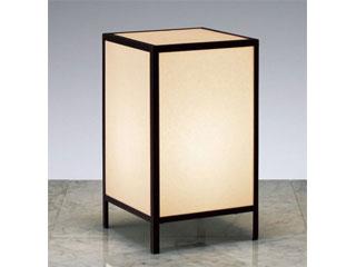 ENDO/遠藤照明 ERF2008B 和風照明 スタンド レザー仕上(黒)【電球色】ランプ付
