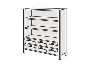 SAKAE/サカエ 【代引不可】物品棚LEK型樹脂ボックス LEK8116-6T