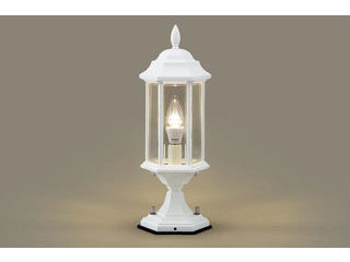 Panasonic/パナソニック LGW56905W LED門柱灯 ホワイト クラシックタイプ【電球色】【据置取付型】