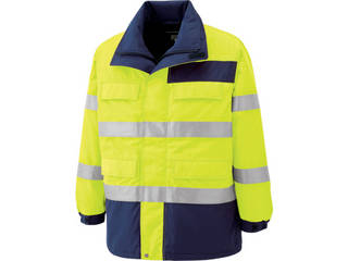 MIDORI ANZEN/ミドリ安全 高視認性 防水帯電防止防寒コート イエロー 5Lサイズ SE1124-UE-5L