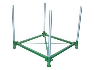 TRUSCO/トラスコ中山 【代引不可】段積みパレット 1000kg 1100×1100 単管4本付 DPL-10-1111