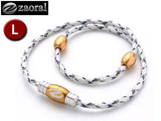 zaoral/ザオラル N12614 リカバリーネックレス 【Lサイズ:55cm】 (ホワイト/ゴールド)