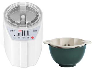 山本電気+東亜 MB-RC52W家庭用精米機 匠味米 (ホワイト)+GM-03 銀しゃり名人(笹色)