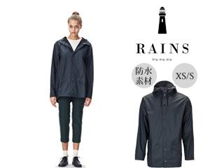 RAINS/レインズ ジャケット レインジャケット 止水ファスナー 【XS/S】 (ブルー) 防水 撥水 レインコート 雨 雪 男女兼用 雨具 合羽