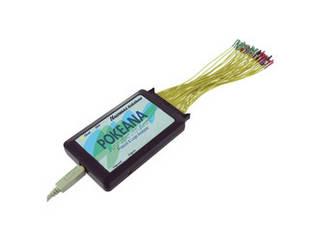 本製品をWindowsパソコンにUSBケーブルで接続するだけで、パソコンをロジックアナライザとプロトコルアナライザとして使用可能。 ハギワラソリューションズ 【納期11月上旬】ポケアナNew/USB3.0対応/16Mbit UPLA-1G17-16MP0