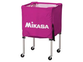 MIKASA/ミカサ 器具 ボールカゴ 箱型・小(フレーム・幕体・キャリーケース3点セット) バイオレット BCSPSS-V