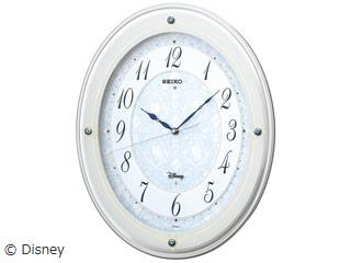 SEIKO/セイコークロック FS502W ディズニー電波掛時計 メロディ(6曲)/飾り(スワロフスキー)つき