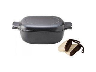 BUNKA/文化軽金属鋳造 味わい鍋 角型(24cm)/azk-24