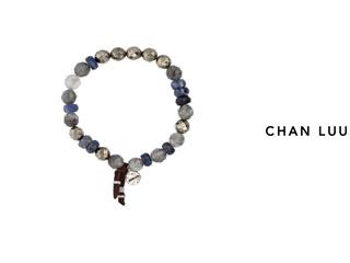 CHAN LUU/チャンルー セミプレシャスストーン ストレッチブレスレット BS-5196(BLUE MIX) チャンルーオリジナル巾着袋付き!