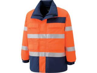 MIDORI ANZEN/ミドリ安全 高視認性 防水帯電防止防寒コート オレンジ Sサイズ SE1125-UE-S