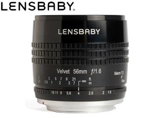 【納期にお時間がかかります】 KENKO/ケンコー Velvet 56(ブラック) ニコンFマウント LENSBABY/レンズベビー