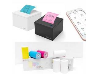 ・感熱プリントだから、インクも不要! ビーラボ 付箋プリンター Cubinote PRO (キュービーノート プロ) Whiteカラー専用用紙2点セット ・WiFi & Bluetooth対応だから、どこからでも付箋を印刷! ・サンプルロール紙 (黄色) x 1以外に黄・青・ピンク各1の3巻をセットで