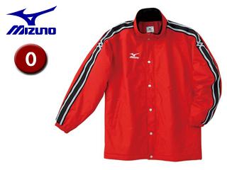 mizuno/ミズノ A60JF961-62 中綿ウォーマーキルトシャツ フード収納式 【O】 (レッド)