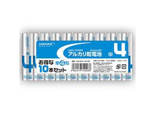 HIDISC 60個セット HIDISC アルカリ乾電池 単4形10本パック HDLR03/1.5V10PX60
