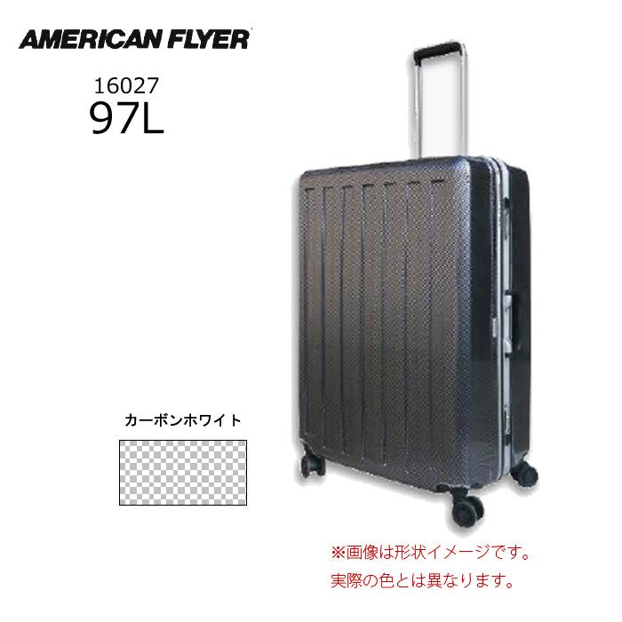 AMERICAN FLYER/アメリカンフライヤー 16027 MAX-CAPA 軽量 スーツケース フレームタイプ (97L/カーボンホワイト)