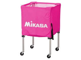 MIKASA/ミカサ 器具 ボールカゴ 箱型・小(フレーム・幕体・キャリーケース3点セット) ピンク BCSPSS-P
