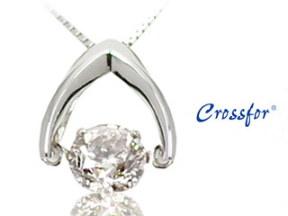 Crossfor/クロスフォー LFV-0511D-Pt 【0.5カラット ダイヤモンド】 ダンシングストーンネックレス 【※鑑別書ご希望の場合は2週間ほどお時間かかります。】 dancingstone ダイヤ ダイヤモンド 結婚記念日 誕生日 プレゼント ギフト クリスマス ホワイトデー