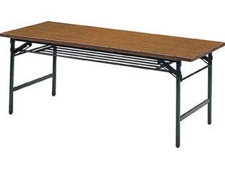 【組立・輸送等の都合で納期に1週間以上かかります】 TRUSCO/トラスコ中山 【代引不可】折りたたみ会議テーブル 1500X900XH700 チーク 1590