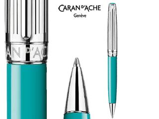 CARAN dACHE/カランダッシュ 【Leman/レマン】バイカラー ターコイズブルー ボールペン 4789-171