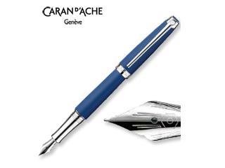 CARAN dACHE/カランダッシュ 【Leman/レマン】マット ブルー ナイト 万年筆 M 4799-449