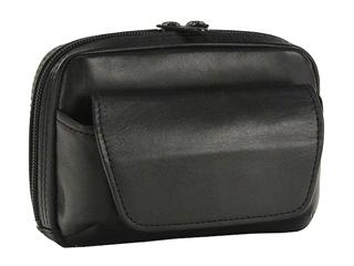 BLAZER CLUB/ブレザークラブ 日本製/本革■パスポートサイズ/ベルトポーチ【ブラック】ダブルファスナー 日本製 国産 牛革 ベルトポーチ レザー 15cm 平野鞄 パスポートサイズ #25649