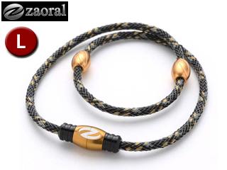 zaoral/ザオラル N12814 リカバリーネックレス 【Lサイズ:55cm】 (ブラック/ゴールド)