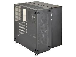 LIANLI 【受注生産品】強化ガラス採用ATXケース LEDコントロールユニット付属 オールブラック PC-O9WX
