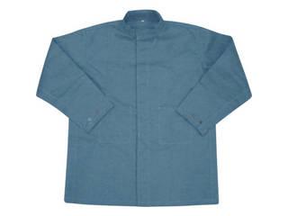 YOSHINO/吉野 ハイブリッド(耐熱・耐切創)作業服 上着 ネイビーブルー Lサイズ YS-PW1BL