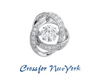 Crossfor NewYork/クロスフォーニューヨーク ダンシングストーン Loop1 タイニーピン 【NY-T011】【CFNYT】 ダンシングストーン 特許  プレゼント ギフト dancing stone 揺れる ジュエリー レディース CM