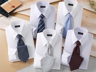 【shirt_10set】 Franco Collezioni/フランコ・コレツィオーニ 50406-10644 ワイシャツ5枚組&ネクタイ5本セット Sサイズ