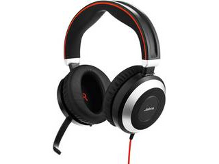 GNオーディオ PC向けステレオヘッドセット(両耳タイプ) Microsoft Lync認定 Jabra EVOLVE 80 MS Stereo 7899-823-109 【納期にお時間がかかります】