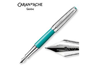 CARAN dACHE/カランダッシュ 【Leman/レマン】バイカラー ターコイズブルー 万年筆 M 4799-171