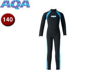 AQA/アクア KW4506A-5814 キッズフルスーツ 【140】 (ブラック×ライトブルー)