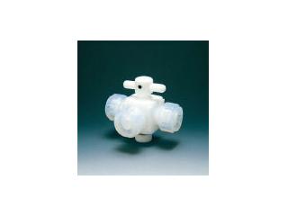Flon/フロンケミカル フッ素樹脂(PTFE)三方バルブ接続6mm NR0030-001