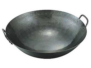 人気海外一番 気質アップ 鉄打出両手中華鍋 54cm