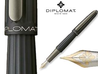 DIPLOMAT/ディプロマット 【Aero/アエロ】ブラック 14K FP (M)