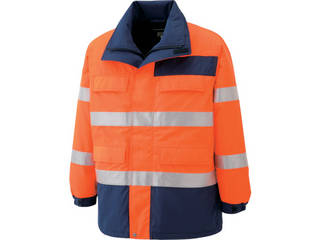 MIDORI ANZEN/ミドリ安全 高視認性 防水帯電防止防寒コート オレンジ 3Lサイズ SE1125-UE-3L