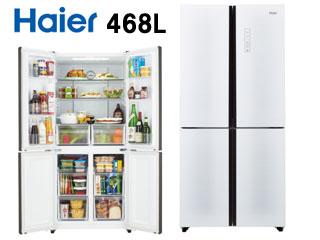 フレンチタイプ JR-NF468A-W ハイアール 【配送&設置無料】 冷蔵庫 468L 両開き 【送料無料】 【KK9N0D18P】 冷凍冷蔵庫 ホワイト 4ドア