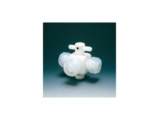 Flon/フロンケミカル フッ素樹脂(PTFE)三方バルブ接続8mm NR0030-002