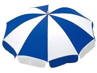 テラモト 【代引不可】ガーデンパラソル 青白 MZ-591-119