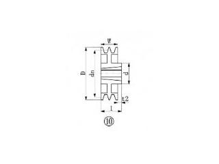 EVER-ON/エバオン ブッシングプーリー SPB 265mm 溝数2 SPB265-2