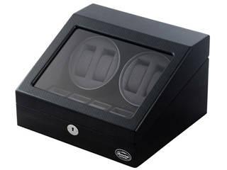 LUHW/ローテンシュラガー LU31004CB(ブラック/カーボン調) MDF4連ワインディングマシーン