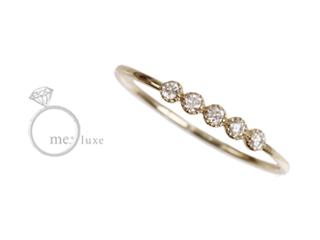 me.luxe/エムイーリュークス ダイヤライン 華奢リング  【9号】 ダイヤモンド ダイヤ 高級 リング 指輪 ジュエリー ジュエリー プレゼント ギフト 包装 記念日