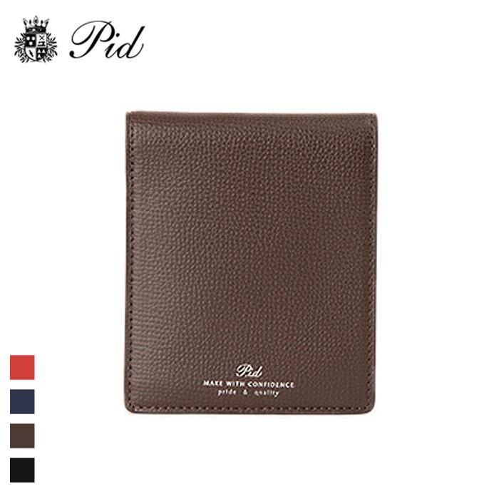 PID/ピー・アイ・ディー PAW1003 イタリアンレザー 純札入れ財布 (チョコブラウン)
