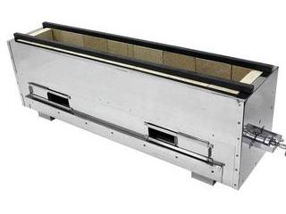 アサヒサンレッド 【代引不可】耐火レンガ木炭コンロバーナー付(組立式)NST-7522B 13A