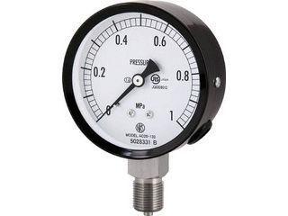 NAGANO/長野計器 普通形圧力計(A枠立形・φ75・G3/8B・0.0~0.16Mpa) AC20-133-0.16MP