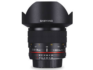 【納期にお時間がかかります】 SAMYANG/サムヤン 14mm F2.8 ED AS IF UMC キヤノン(EF) AE用 【お洒落なクリーニングクロスプレゼント!】