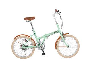 KCD/ケーシーディー 【代引不可商品】シンプルスタイル 20型折りたたみ自転車 ミントグリーン SS-H20COL/MGR