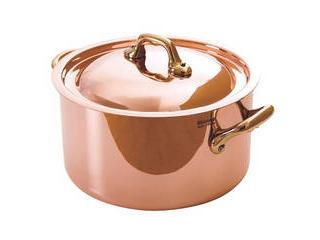 純銅製半寸胴鍋12cm蓋付