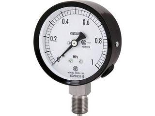 NAGANO/長野計器 普通形圧力計(A枠立形・φ75・G3/8B・0.0~0.10Mpa) AC20-133-0.1MP